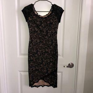 Bisou Bisou Black Lace Dress